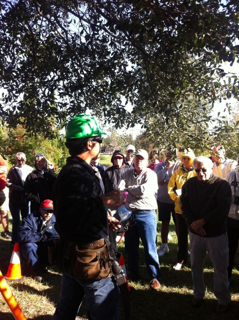 Kanani Morris Teaching an Oak Pruning Class.